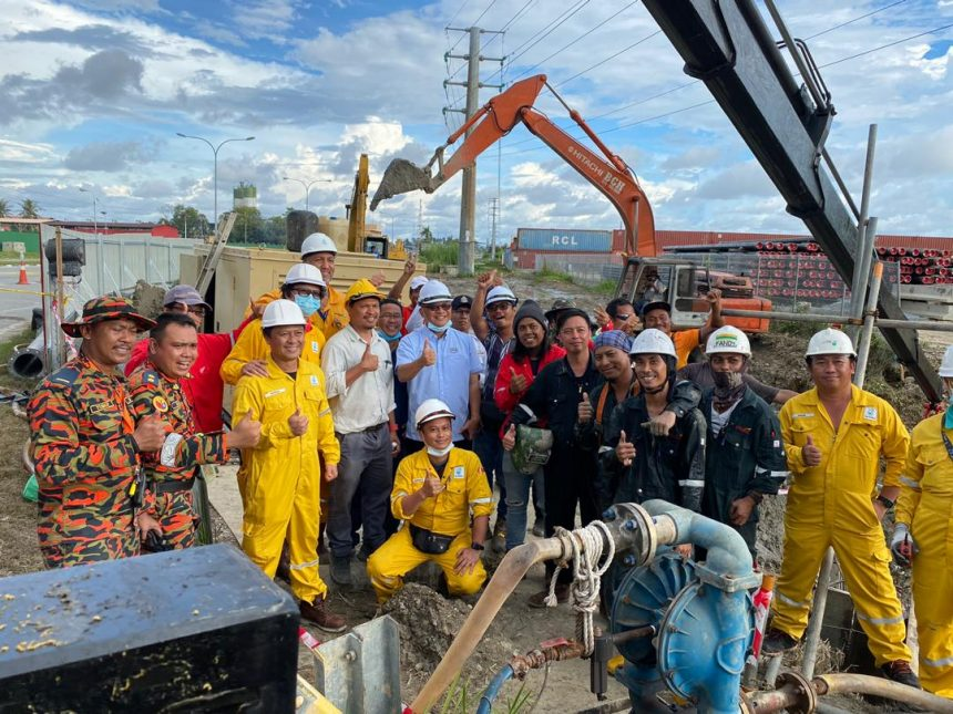 Pemakluman Kerja-Kerja Status Pembaikan Paip Pecah di Pulau Enoe